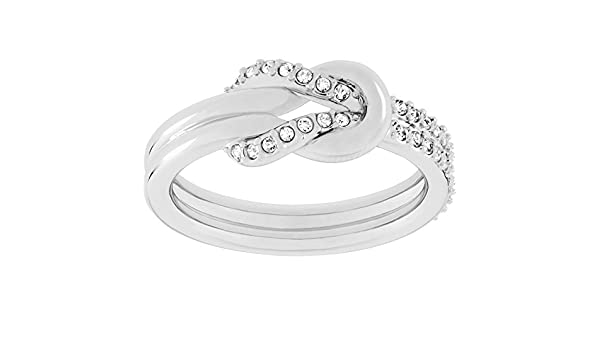 b35c4fca5 Swarovski Voile Clear Crystal Pave Knot Ring 5007775 55: Amazon.co.uk:  Jewellery