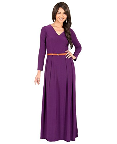 Yiiquan Women's V Neck Long Sleeve Dress Large Size Hip Wrapped Multiple Colour