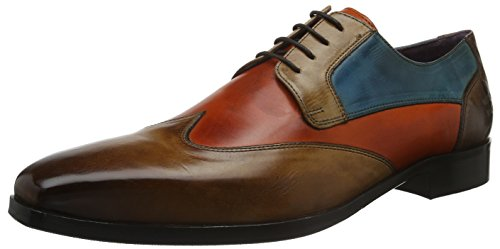 Melvin & HamiltonLance 9 - Scarpe stringate Uomo , Marrone (Braun (Crust Wood, Orange, Tortora, Bluette, Dk.Brown/hRS)), 46