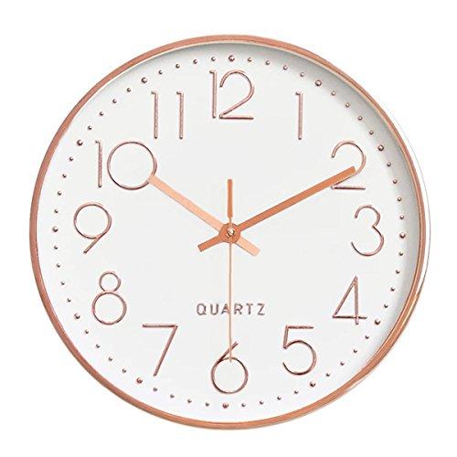 Foxtop 12 pollici grande decorativo orologio da parete silenzioso per cucina living room camera da letto, 30 cm