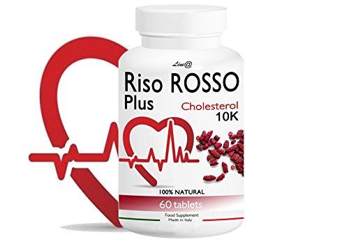 RISO ROSSO PLUS K10 Fermentato 60 compresse (trattamento PER 2 MESI) si prende CURA del TUO CUORE, abbassando il TUO COLESTEROLO!