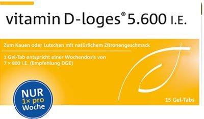 vitamin D-Loges von Dr. Loges, 15 Gel-Tabs (PZN 10073661) Vitamin-D-Wochendepot im innovativen Gel-Tab