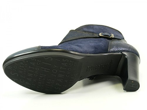 Hispanitas Amberes HI63891 Schuhe Damen Plateau Stiefeletten Ankle Boots Blau