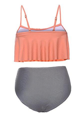FIYOTE Damen Bikini-Set Orange