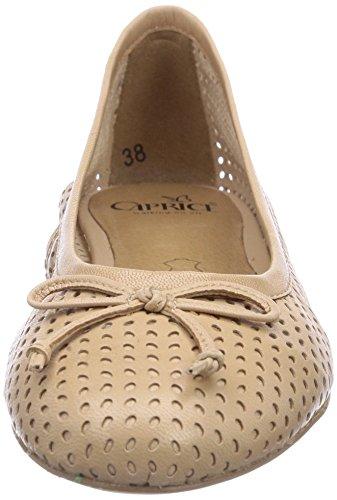 Caprice 22111 Damen Geschlossene Ballerinas Braun (SAND/355)
