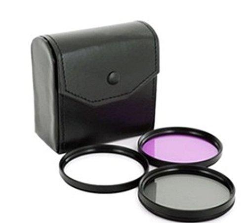 fuer Panasonic Lumix FZ300 - LOOKit Objektiv Filterset 52 inkl. UV Filter + CPL Filter + FLD Filter + Schutztasche