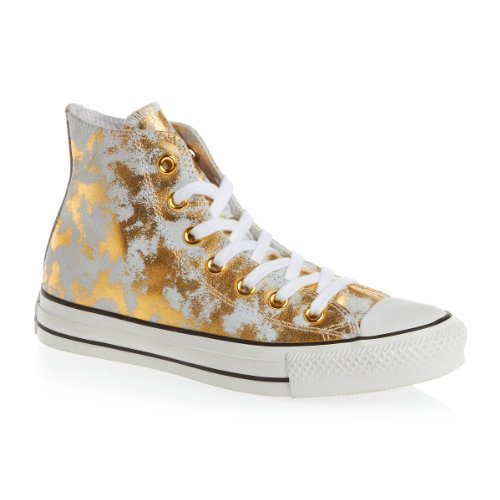 Converse, Chuck Taylor All Star Adulte Seasonal Leather HI, Sneaker, Unisex - adulto Dorado
