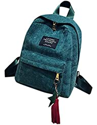 975318cc81 Zaino in Velluto a Coste Mini Tinta Unita da Donna Casuale Daypack Borse a  Mano Backpack