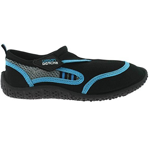 Urban Beach Childrens Kids Boys Girls Reed Aqua Shoes Surf Wet Water Wetsuit Neoprene Socks Boots Sizes 13-5 Uk (Black With Blue, Youths UK 4 EU 37)