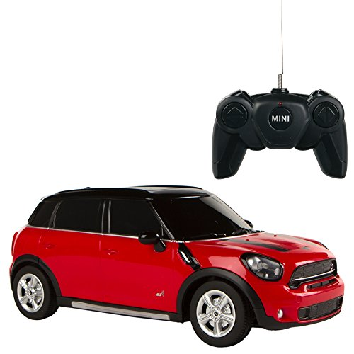 Rastar - Mini Countryman, coche teledirigido, escala 1:24, color rojo