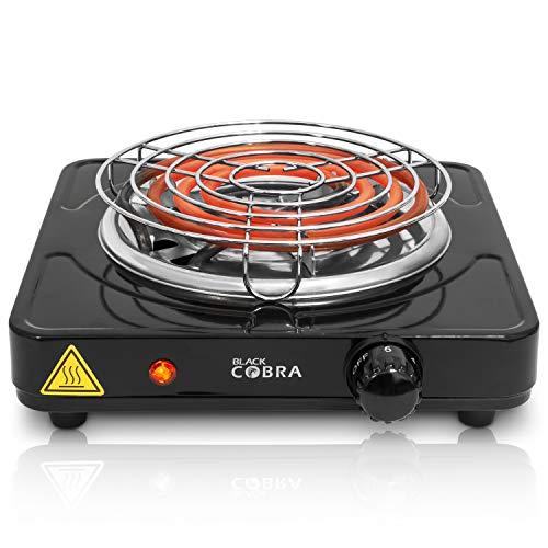 Black Cobra Shisha Kohleanzünder | Blitzschneller 1500W Kohlegrill und Elektrischer Anzünder für Kohle mit 150cm Kabel und Gitter Zubehör Set