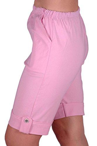 EyeCatch - Short stretch élastique grandes tailles - Eta - Femme Baby Rose