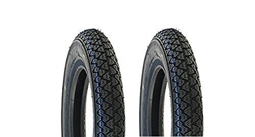 MG Kit - Vee Rubber - Paire de pneus 3.50 x 10 pour Piaggio Vespa, Ape, Px Cosa, T5