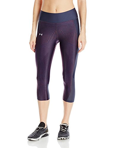 Under Armour Damen Fly By Printed Capri 1297934410 S Midnight Navy/Pomegranate (Mesh Armour Under Capris)