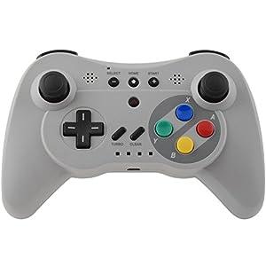 Gam3Gear Grau Classic Pro Wireless Gaming Controller für Nintendo Wii U