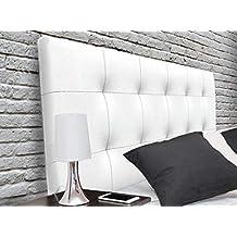 Suenoszzz - Cabecero tapizado Canada (Cama90) 100X57 Cms. Color Blanco.Piel Sintetica
