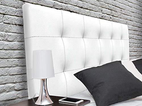 Suenoszzz - Cabecero tapizado Canada (Cama90) 100X57 Cms. Color Blanco.Piel Sintetica Verona.