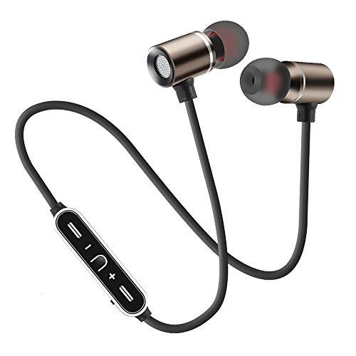 Neck-stereo-bluetooth - (Fulltime Drahtloser Bluetooth-Kopfhörer für Sport-Stereo-Hang-Neck, IPX4-wasserdicht, schweißhemmend, schwarz, Pistole (Pistole))