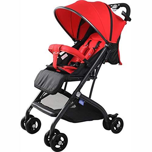 BLWX - Poussette d'enfant de Parapluie Se Pliant portatif de Paysage élevé de Poussette de Chariot Poussette (Couleur : Red)