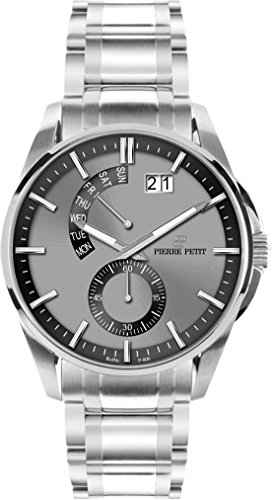 Petit Pierre Men's Watch XL Analogue Quartz Stainless Steel Le Mans P-793D