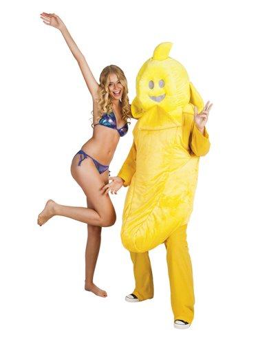 """Preisvergleich Produktbild Kostüm für Erwachsene """"Banane"""" Maskottchen Gr.XL"""