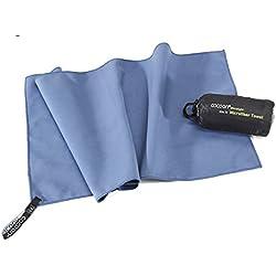 Cocoon Ultralight Towel, superleichtes Mikrofaser-/Sport-/Reisehandtuch (fjord bluei, M)
