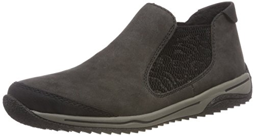 Rieker Damen L5294 Chelsea Boots Grau Anthrazit/Schwarz 00, 42 EU