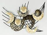 Formano Wandbild, Wanddeko Monde Gold Muscheln 78x60cm Metall