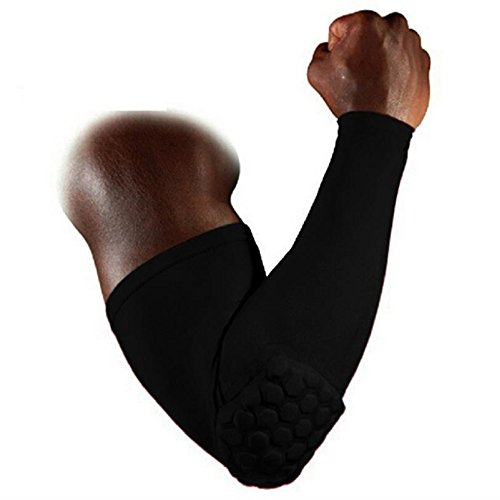 sterte Arm Sleeve Sport Displayschutzfolie Gear Honeycomb Crashproof Ellenbogenbandage Guard Gym 1, schwarz (Paintball-arm Guards)