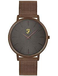 0fc6e8b4a635 Farah Slim Jim Reloj con Esfera Gris y Brazalete de Bronce
