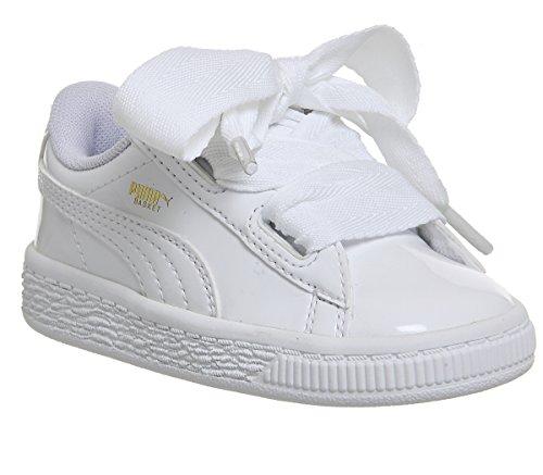 Puma Basket Heart Patent Sneaker Kleinkinder 6.0 UK - 23.0 EU (Schuhe Kleinkind Puma)