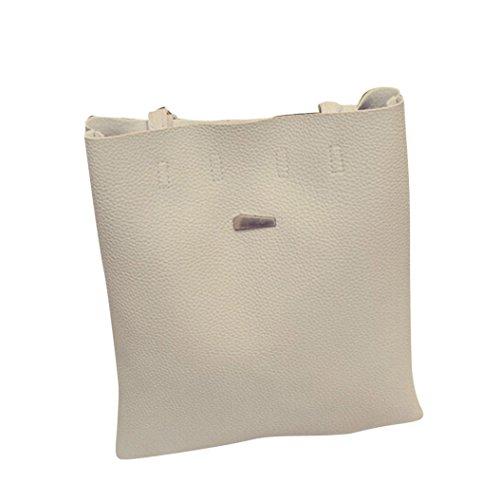 Transer Women Shoulder Bag Popular Girls Hand Bag Ladies Artificial leather Handbag, Borsa a spalla donna Brown 28cm(L)*33(H)*4cm(W) Grey