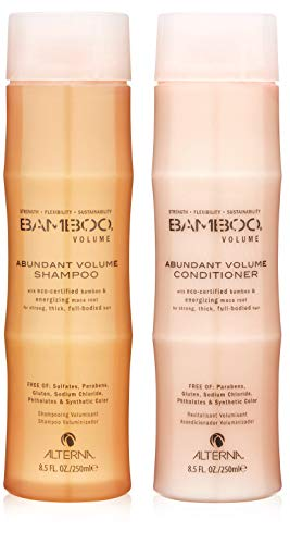 Alterna Bamboo Abundant Volume Shampoo and Conditioner Set (8.5 Oz Each) by Alterna