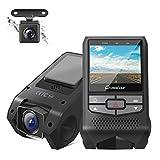 Crosstour Dual Dashcam Auto Vorne und Hinten FHD 1080P Mini Autokamera mit...