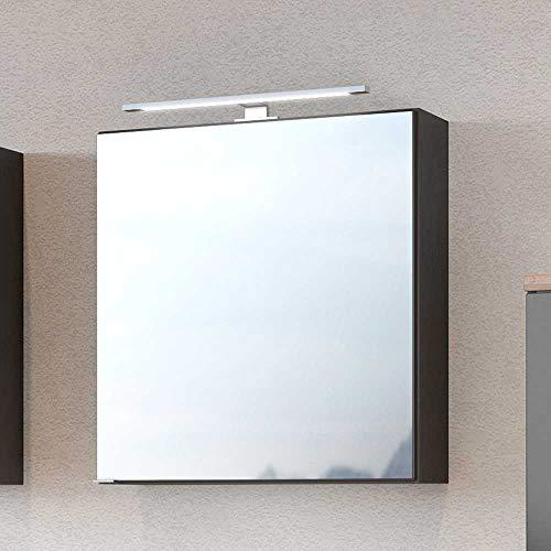Pharao24 Badspiegelschrank in dunkel Grau 60 cm breit