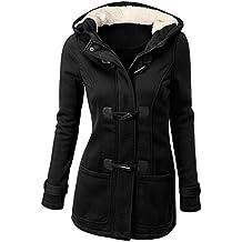 Mujer Invierno Abrigo Casual Sudadera con Capucha Chaqueta de Lana Capa Jacket Parka Pullover