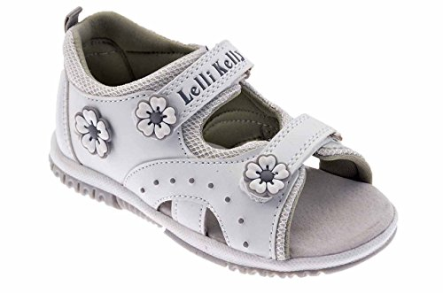 Lelli Kelly 7451 Velcro Sandales Neuf Chaussures. Blanc