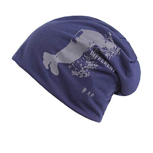 Männer Aus Baumwolle Double-Layer Schal Hut, EIN Ohr Schutzkappe,Blaue Farbe -