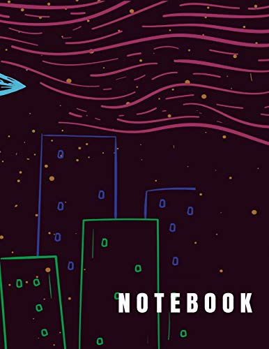 Notebook: UFO got me3 cover (8.5 x 11)  inches 110 pages, Blank Unlined Paper for Sketching, Drawing , Whiting , Journaling & Doodling (alien notebook,) (Cute Alien Tattoo)