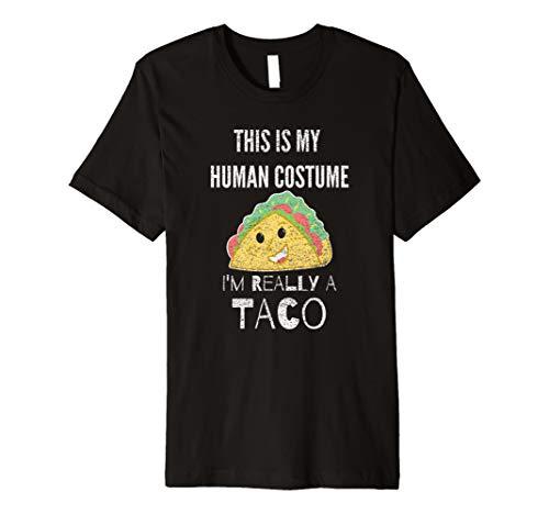 This Is My Echthaar Kostüm, Ich bin wirklich ein Taco Geschenk T-Shirt