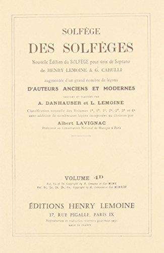Solfège des Solfèges Volume 4D Fa3