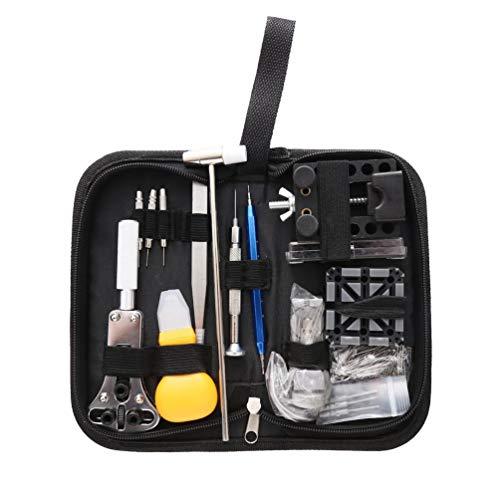 Tragbare 144 Stücke Uhrmacherwerkzeuge Kit mit Tragetasche Professionelle Uhröffner Pin Link Remover Bar Instrumente Set