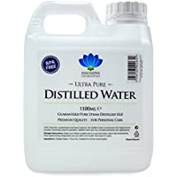 Distilled Water - 100% Pure Steam Distilled H2O - 1100ml