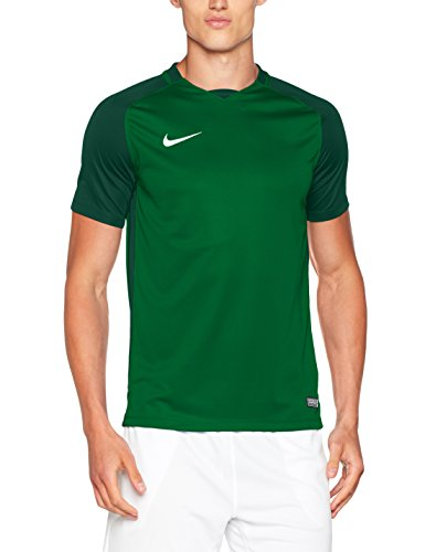 Nike Herren Men's Dry Team Trophy III Football Jersey T-Shirt, Pine Gorge Green/White, XL -