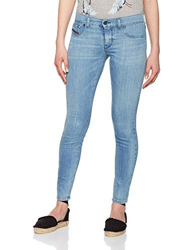 Diesel Skinny Damen Jeans (Diesel Damen Skinny Jeans Livier-Ankle, Blau (Medium Blue 084DA), W28)