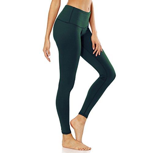 (Cindeyar Damen Leggings Yogahose High Waist Strumpfhosen Lange Sweathose Laufhose Fitnesshose Jogginghose Sporthose (Dunkelgrün, S))