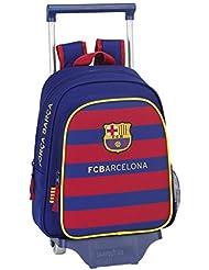 Safta FC Barcelona Mochila Infantil con Ruedas, 28 x 34 x 10 cm, Color Azul Marino