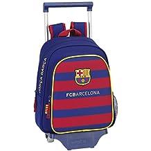 Safta FC Barcelona Mochila Infantil con Ruedas, 28 x 34 x 10 cm, Color