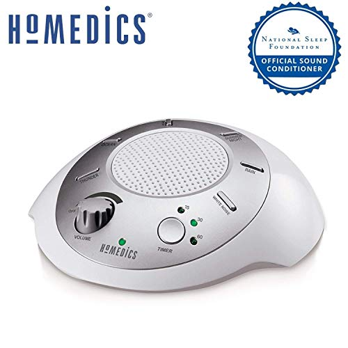 HoMedics SoundSpa White Noise Machine | Portable Sound Sleep Machine for Home, Office, Baby & Travel with 6 Relaxing &...