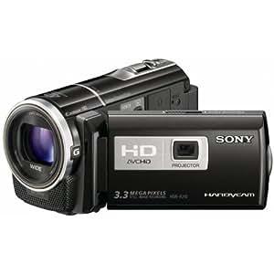 Sony HDR-PJ10E Full HD Camcorder (30-fach optischer Zoom, 16 GB interner Speicher, 7,6 cm (3.0 Zoll) Display, bildstabilisiert) mit integriertem Projektor schwarz
